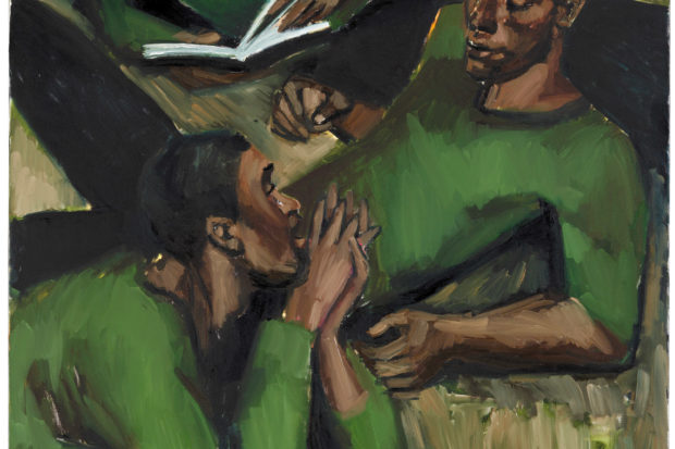 Lynette Yiadom-Boakye: <i>To Reason with Heathen at Harvest</i>, 2017. An exhibition of Yiadom-Boakye's work, curated by Hilton Als, is on view at the Yale Center for British Art, New Haven, September 12–December 15, 2019.