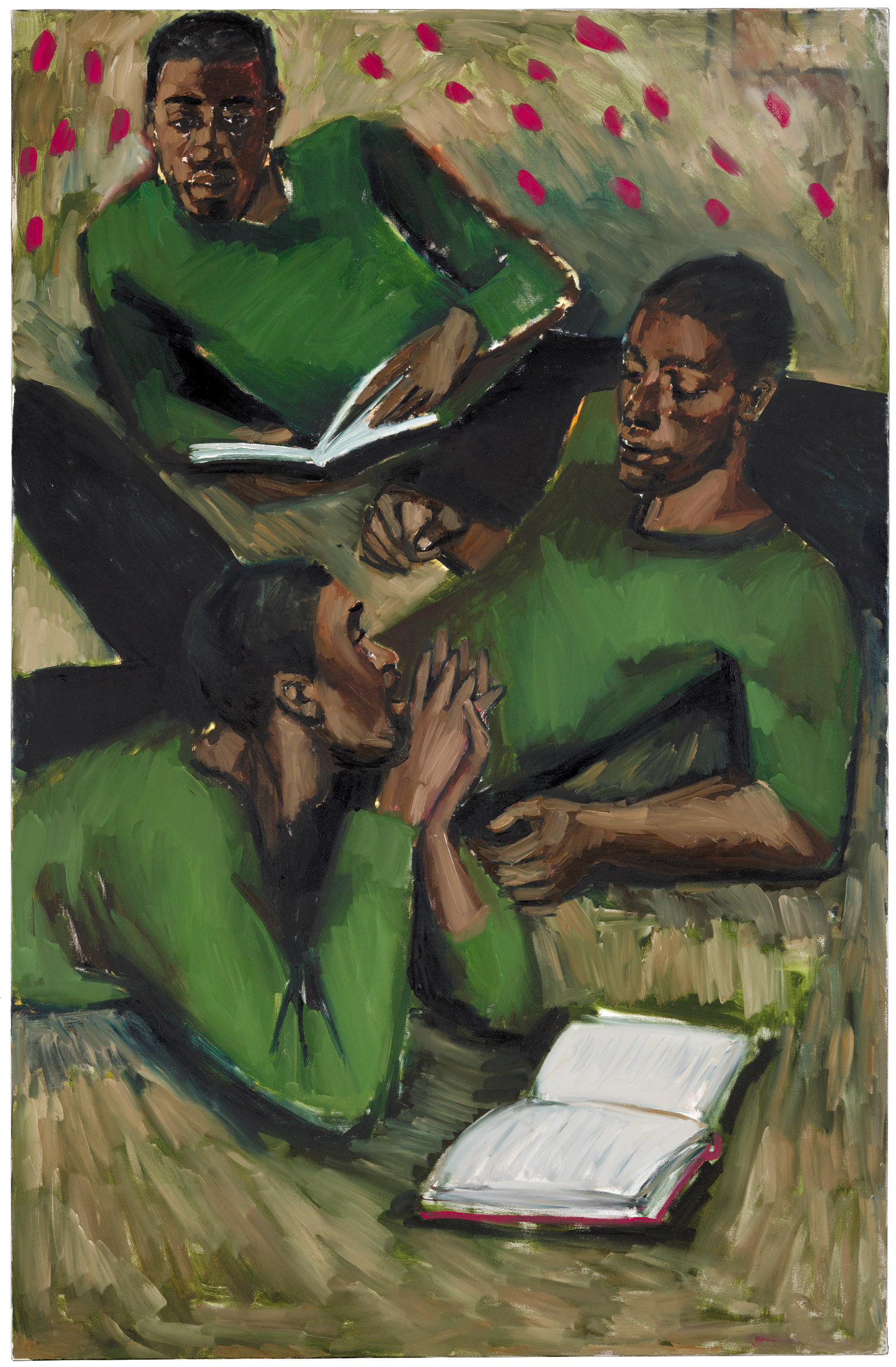 To Reason with Heathen at Harvest, a painting by Lynette Yiadom-Boakye