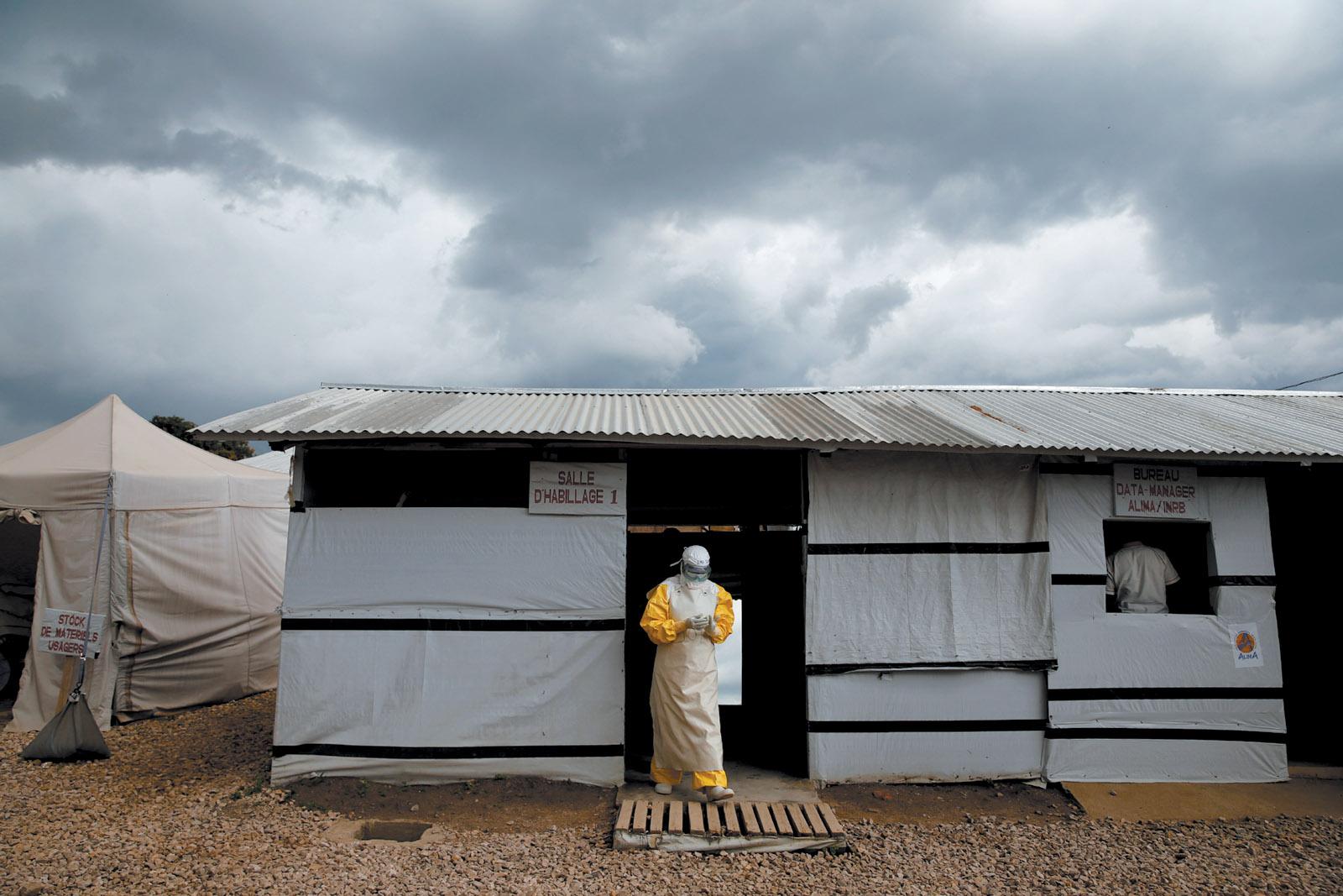 A health worker in an Ebola treatment center, Beni, North Kivu, Congo