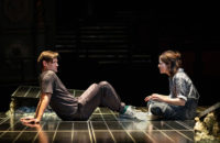 Matt Smith as M, and Claire Foy as W, in Lungs, directed by Matthew Warchus at the Old Vic Theatre, London, 2019