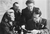 Jacqueline Breton, André Masson, André Breton, and Varian Fry at the Villa Air-Bel, near Marseille, France, 1941