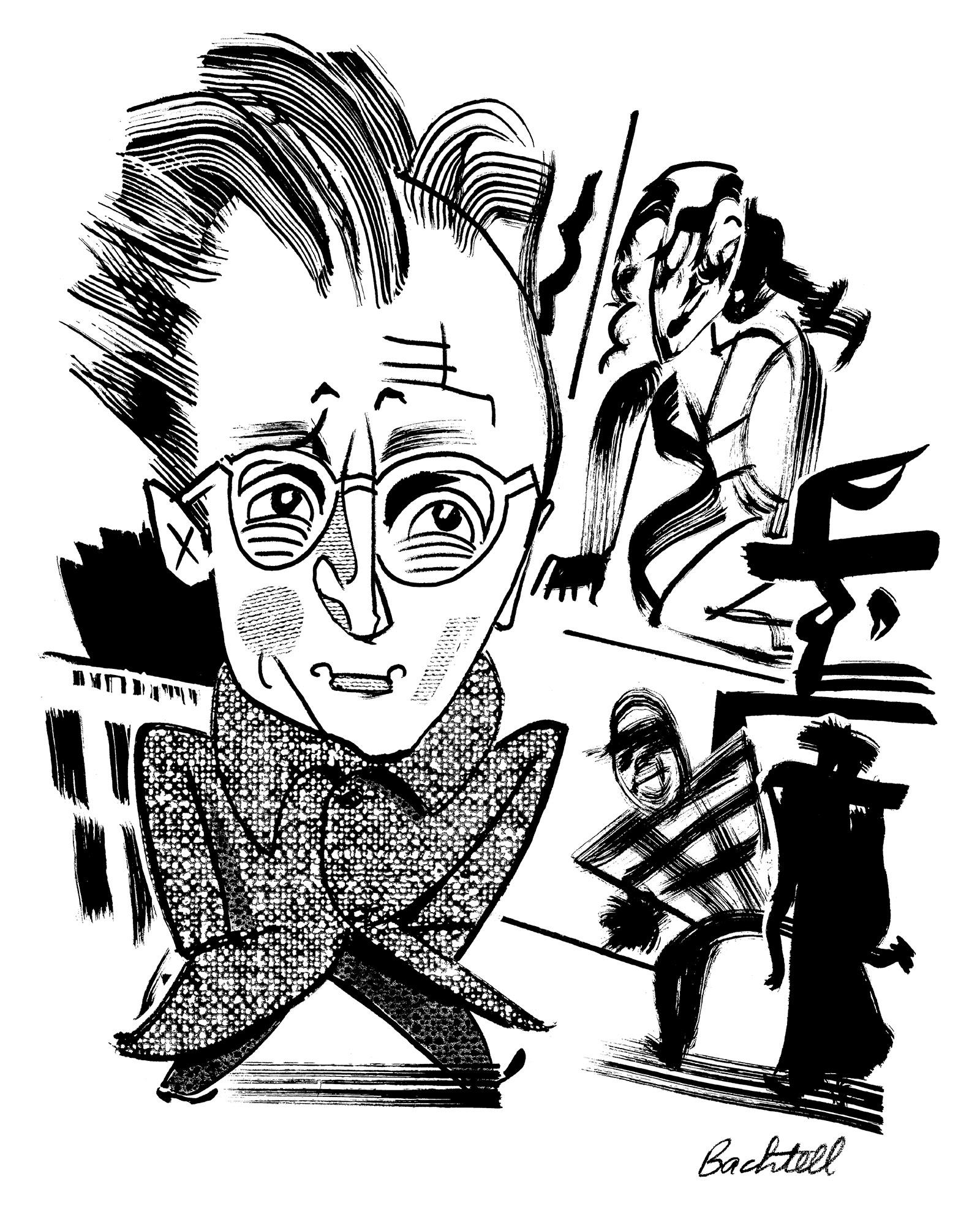 Nelson Algren; drawing by Tom Bachtell