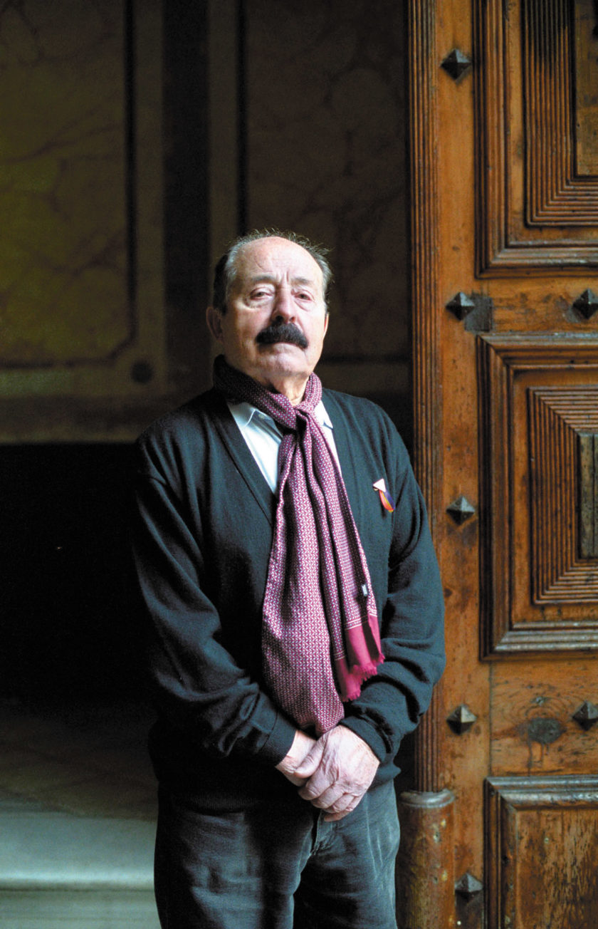Enric Marco, a Catalan who falsely claimed to have been imprisoned at the Flossenbürg concentration camp during World War II, Barcelona, 2005