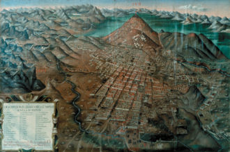 The Cerro Rico (Rich Hill) and the city of Potosí, in what is now Bolivia; painting by Gaspar Miguel Berrio, 1758