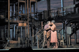 Eric Owens as Porgy and Angel Blue as Bess in Porgy and Bess at the Metropolitan Opera