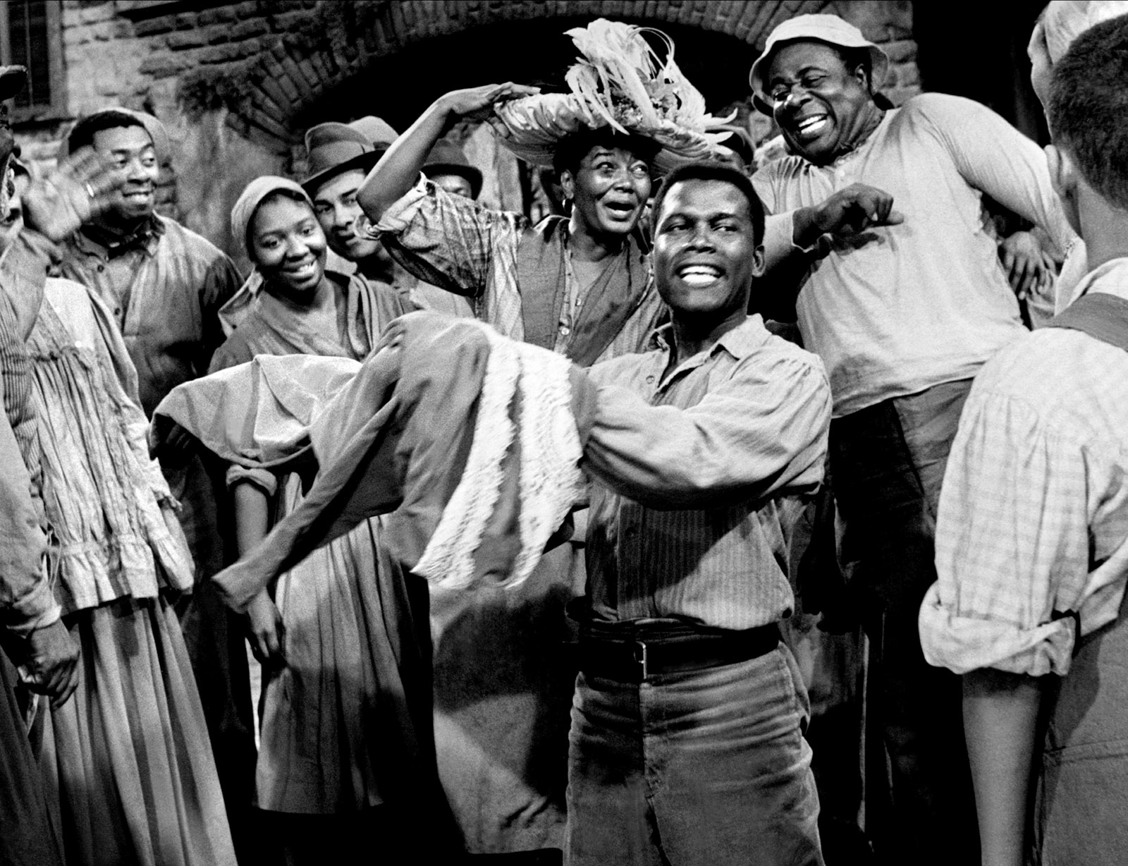 Sidney Poitier as Porgy in Otto Preminger's film Porgy and Bess, 1959