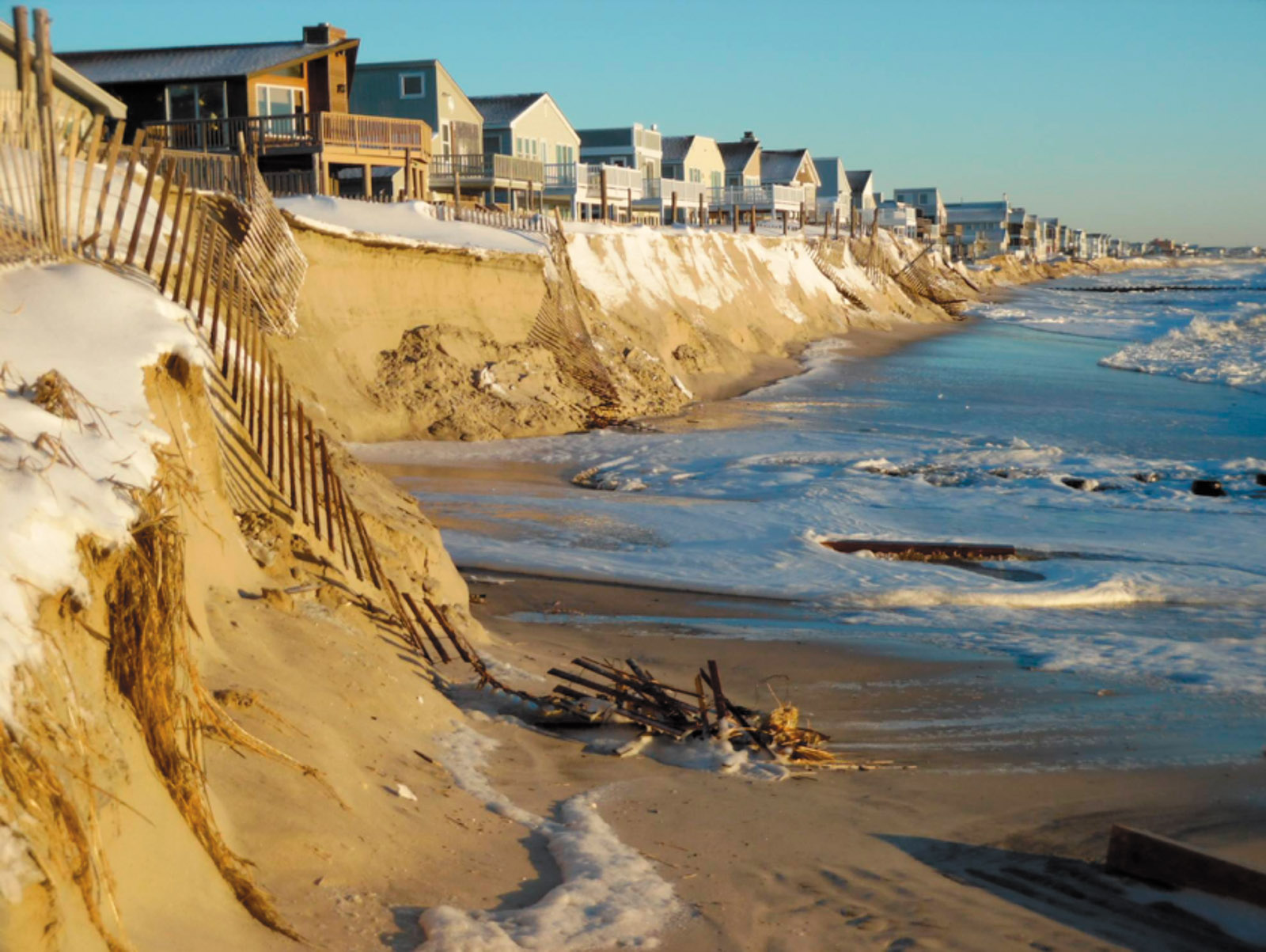 Long Beach Island, New Jersey, where a series of nor'easters and other storms have washed away sand, January 2016
