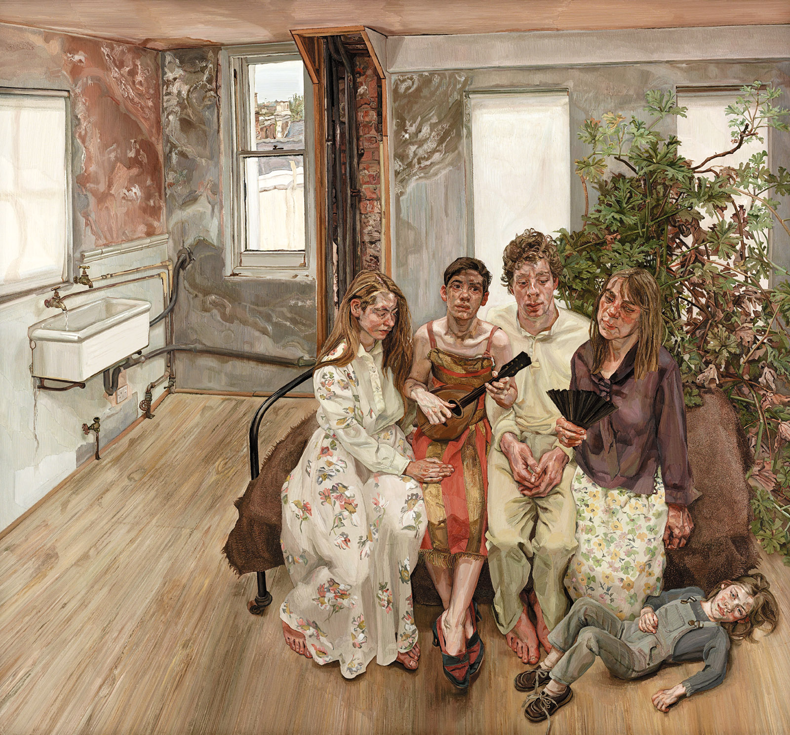 Interior W11: After Watteau, 1981–1983; painting by Lucian Freud