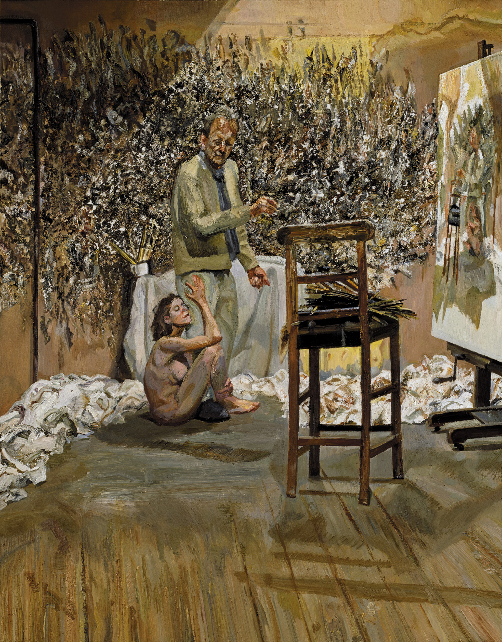The Painter Surprised by a Naked Admirer, 2004–2005; Lucian Freud