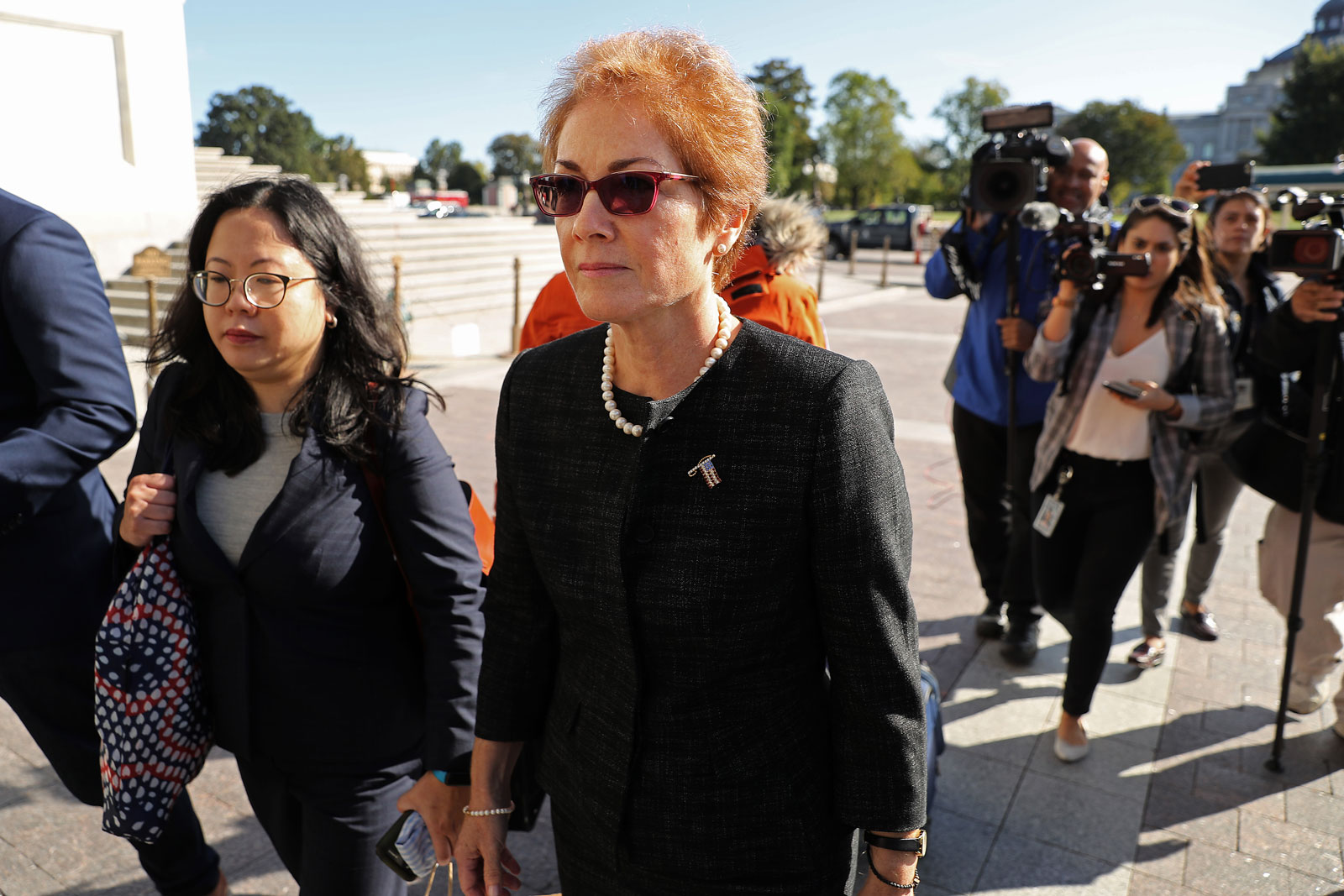 Former US Ambassador to Ukraine, Marie Yovanovitch, arriving at the US Capitol to testify as part of the ongoing impeachment investigation against President Donald Trump, October 11, 2019