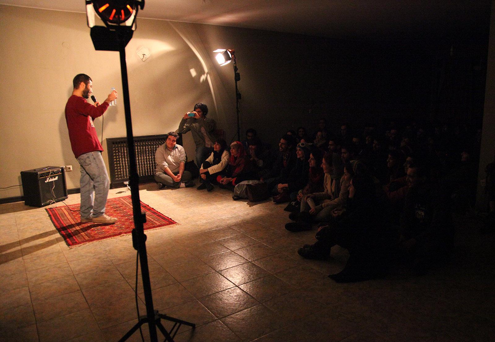 Standup comic performing in Tehran