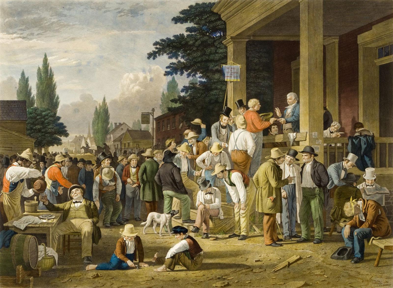 George Caleb Bingham: The County Election, 1854