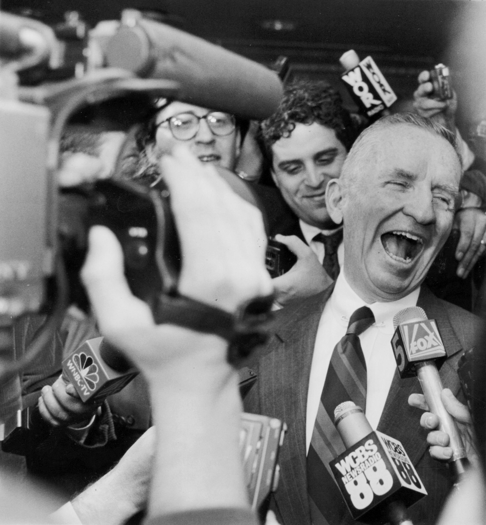 Presidential candidate Ross Perot after addressing the American Newspaper Association, New York City, 1992