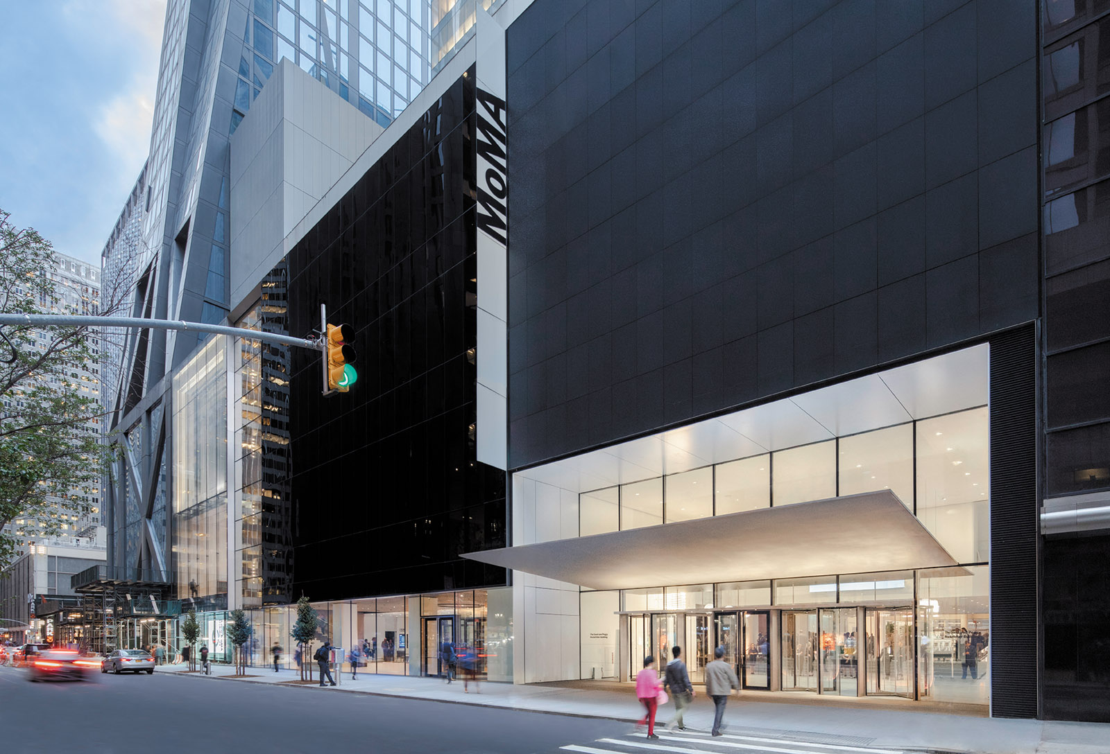 The exterior of the newly renovated MoMA