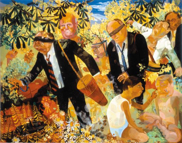 Dana Schutz: Men's Retreat, 2005
