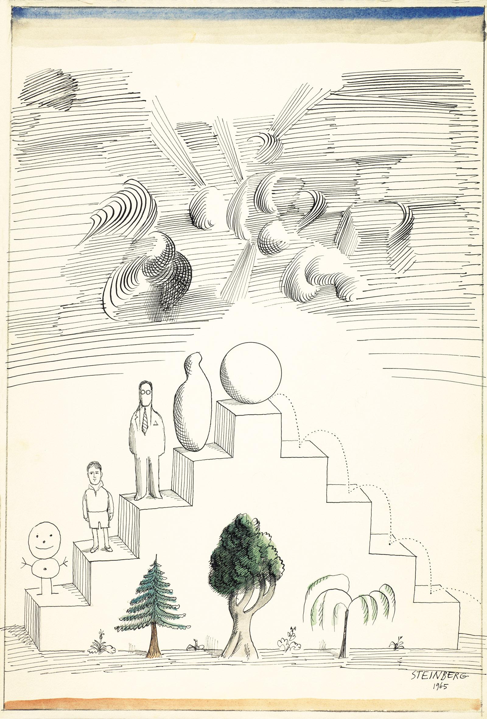 Saul Steinberg: Biography, 1965