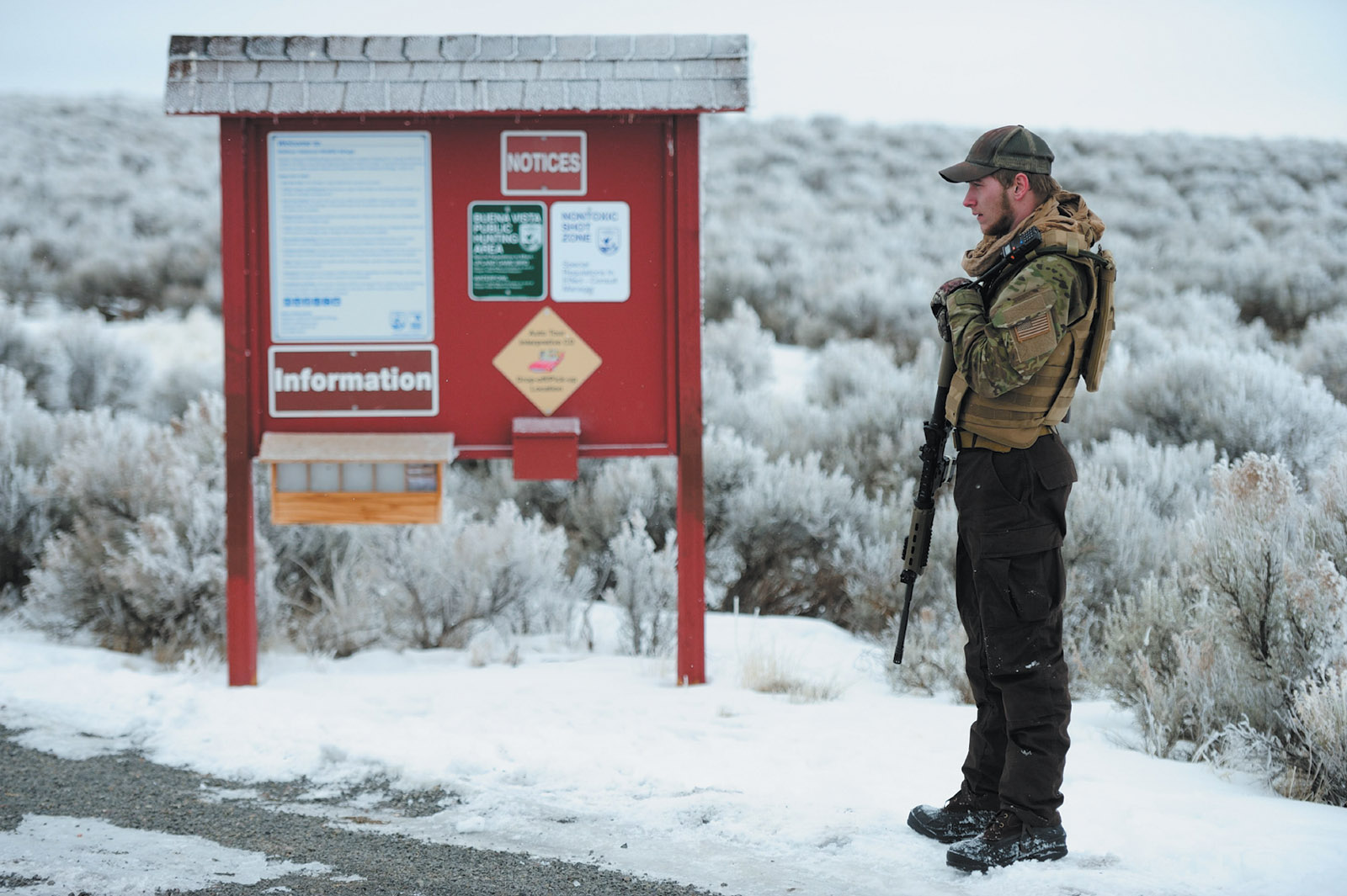 An occupier at the Malheur National Wildlife Refuge, January 2016