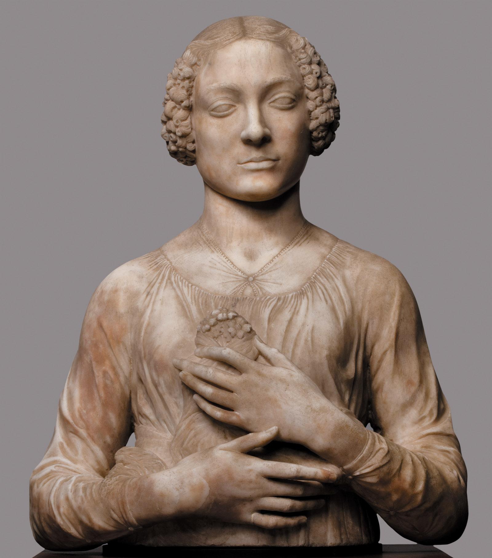 Andrea del Verrocchio's Lady with Flowers, circa 1475–1480