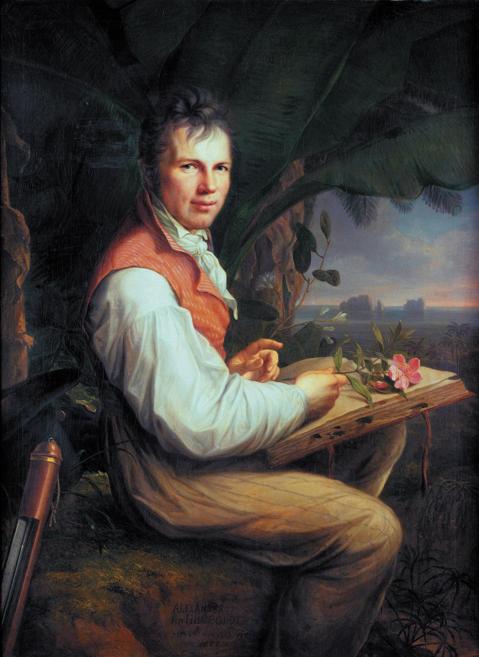 Alexander von Humboldt, 1806 ; painting by Friedrich Georg Weitsch