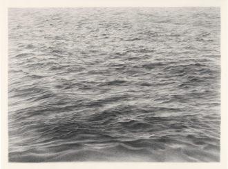 Vija Celmins: Untitled (Ocean), 12 3/4 x 17 1/2 inches, 1970