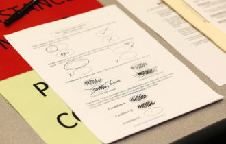 An instruction sheet for the recount of ballots cast in Oakland County, Michigan, December 5, 2016