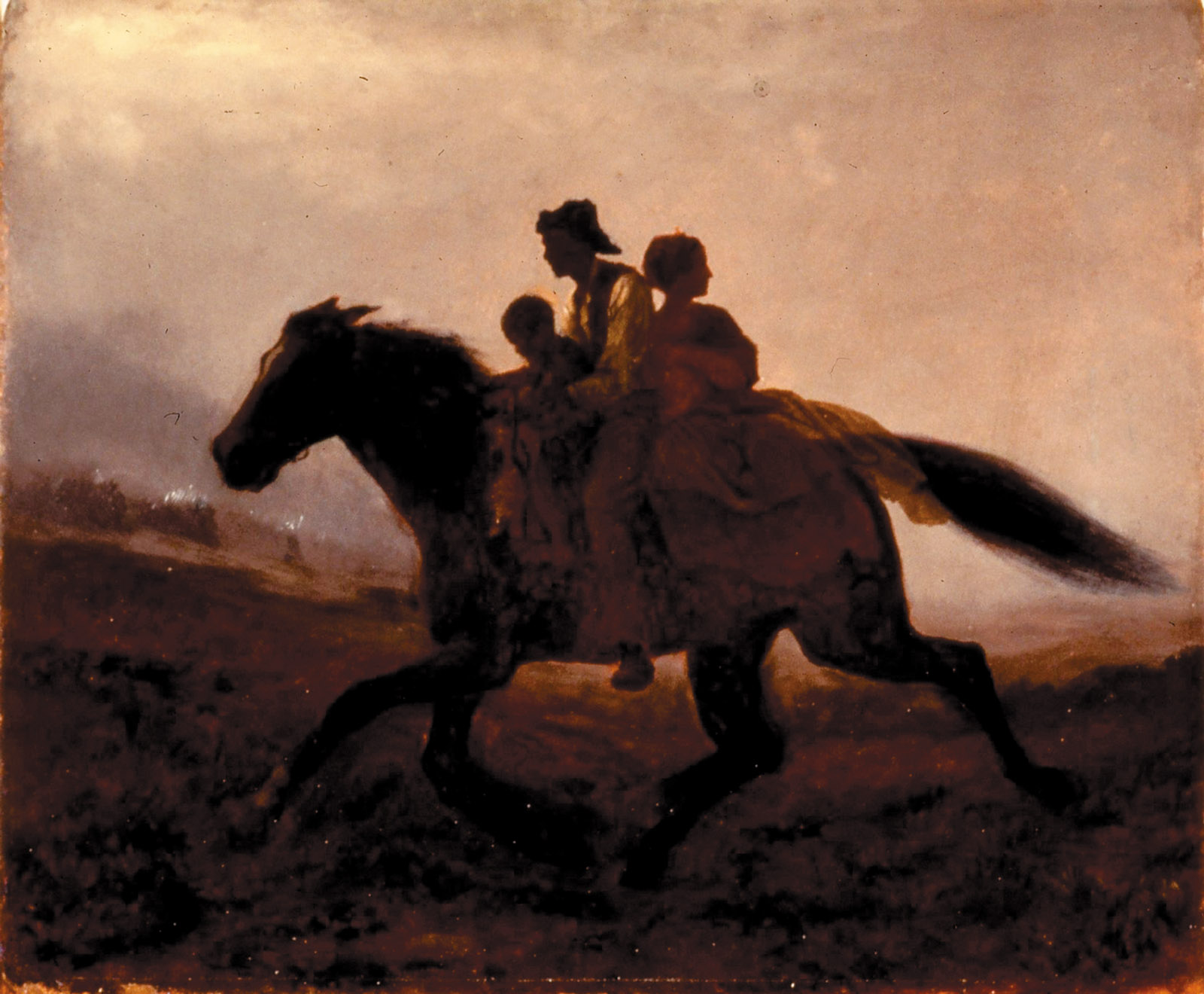 A Ride for Liberty—The Fugitive Slaves, circa 1862; a painting by Eastman Johnson