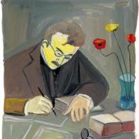 Walter Benjamin; portrait by Maira Kalman, 2007