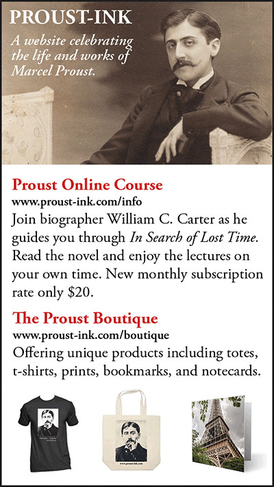 Ad for Proust online course and gifts