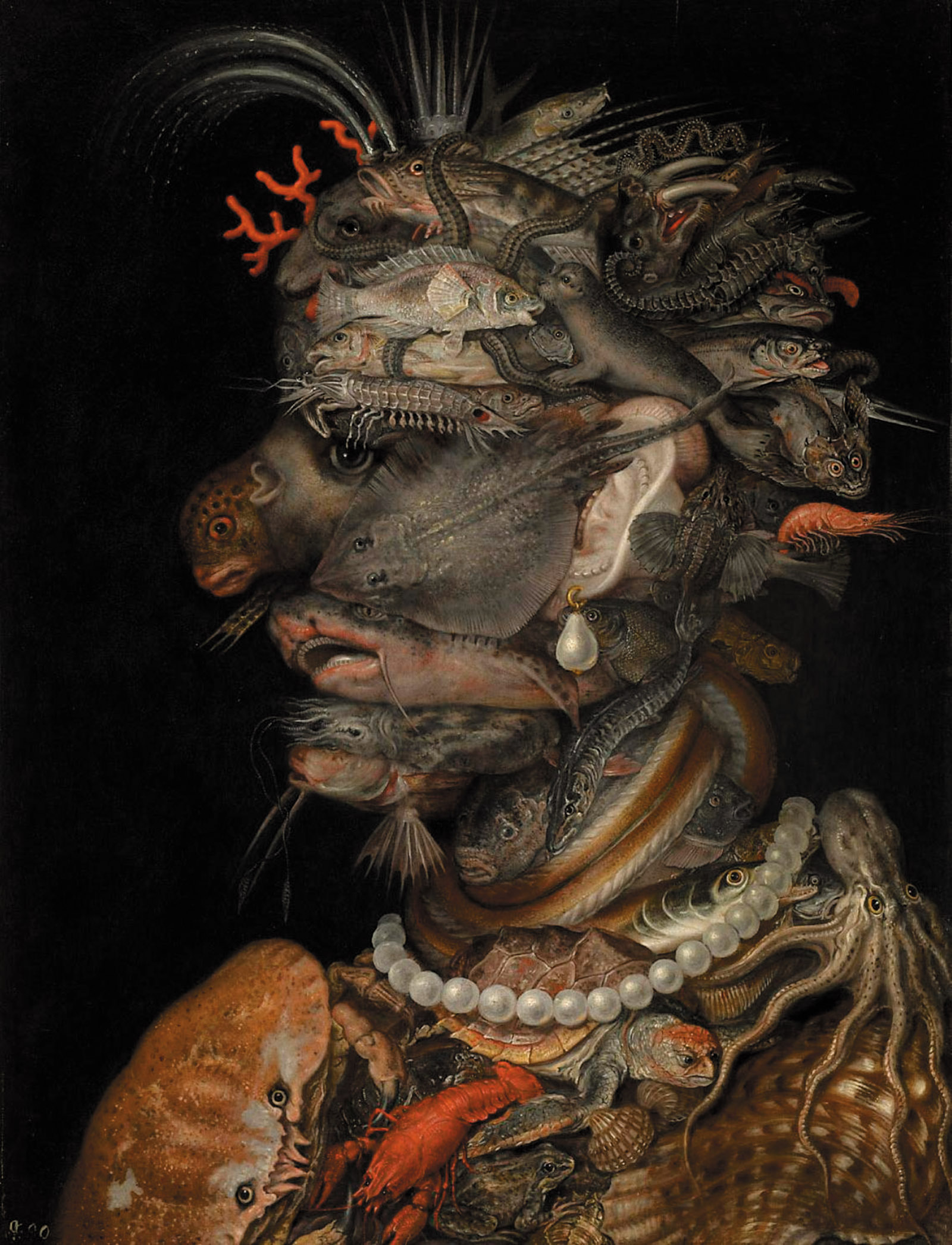 Water, 1566; a painting by Giuseppe Arcimboldo