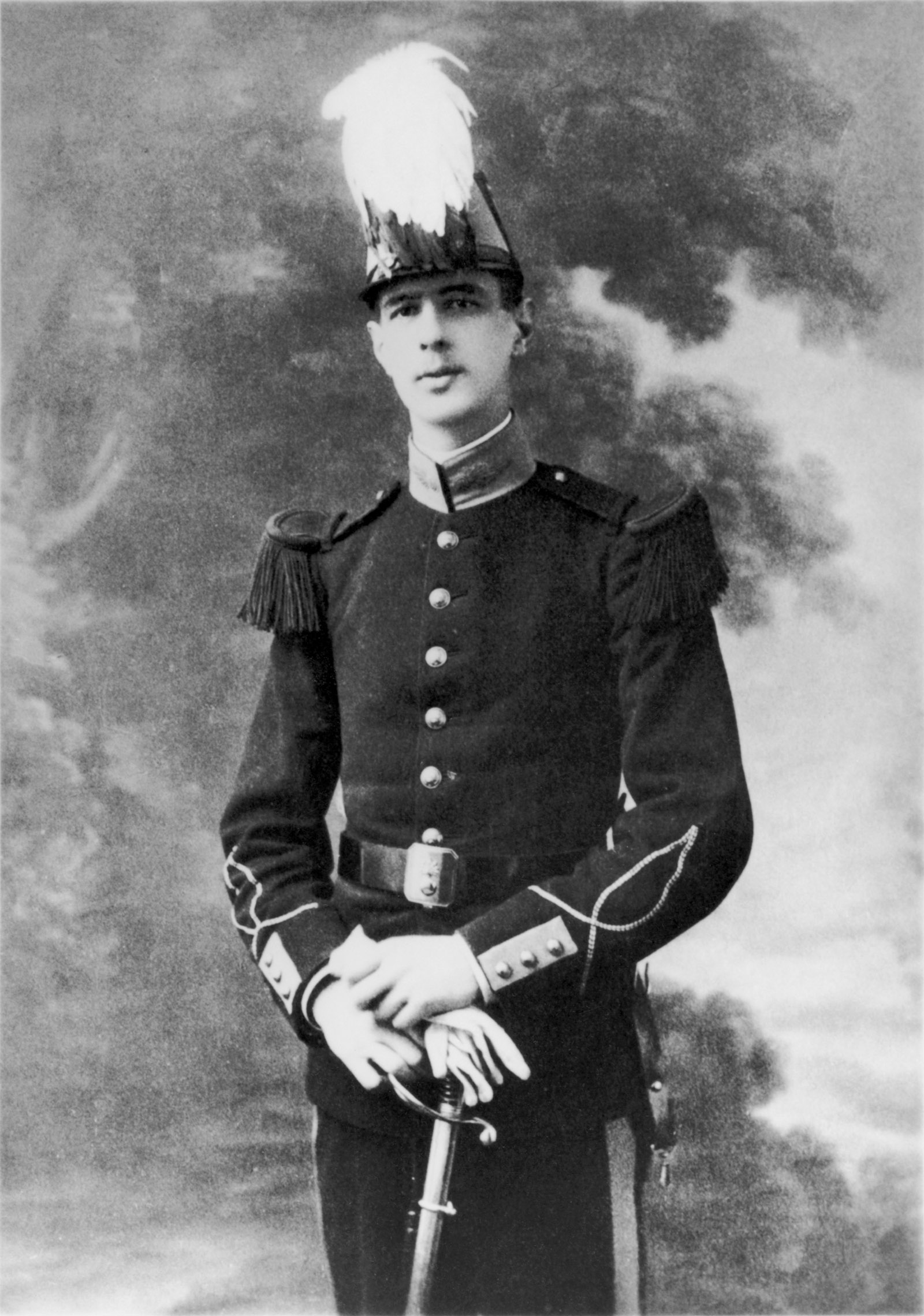 Charles de Gaulle at the French military academy St. Cyr, 1912
