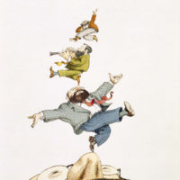 Tullio Pericoli: Umberto Eco, 1990