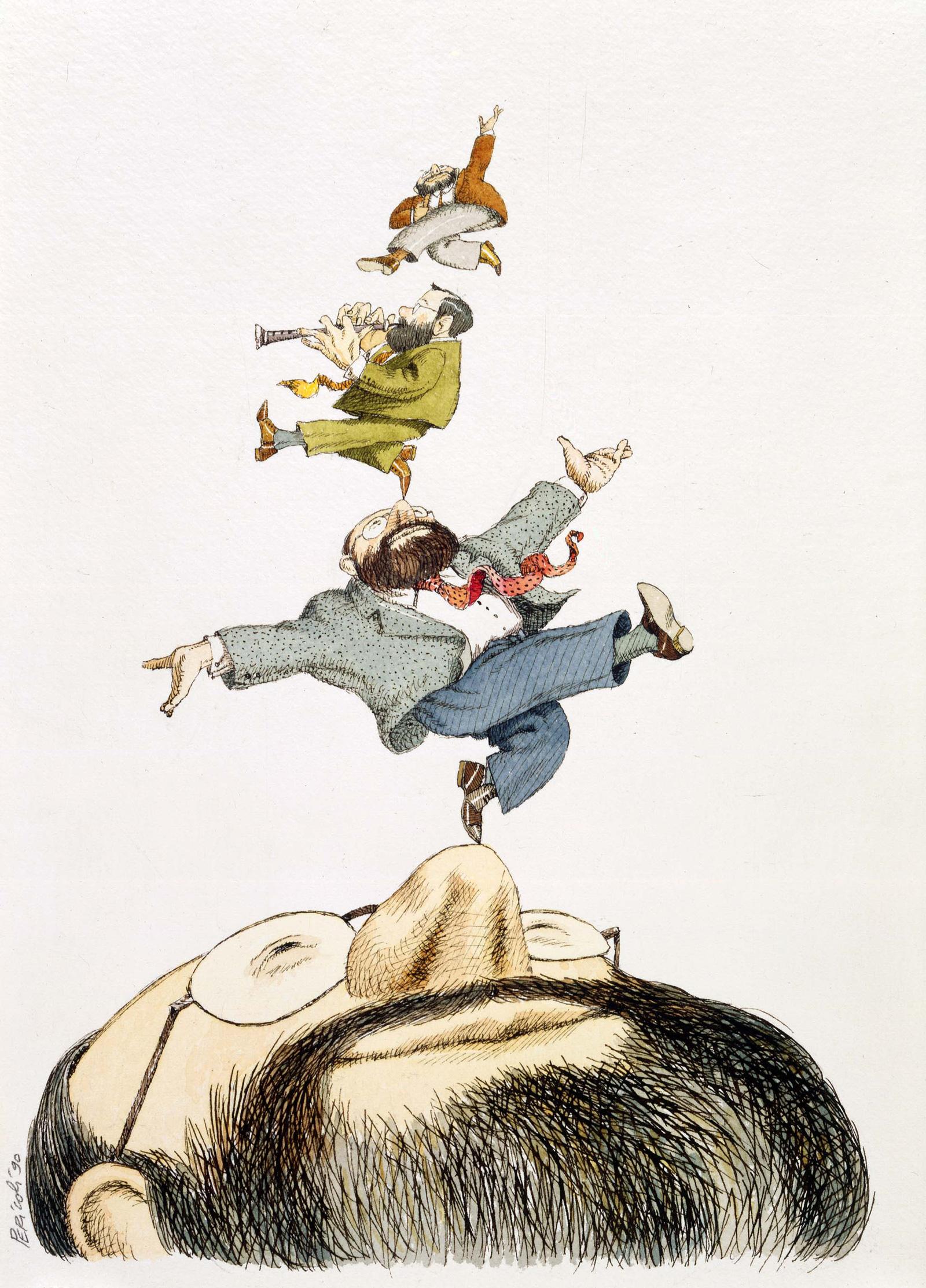 Portraits: Umberto Eco, Saul Steinberg, andAldoBuzzi | by Tullio Pericoli | NYR Daily | The New York Review of Books