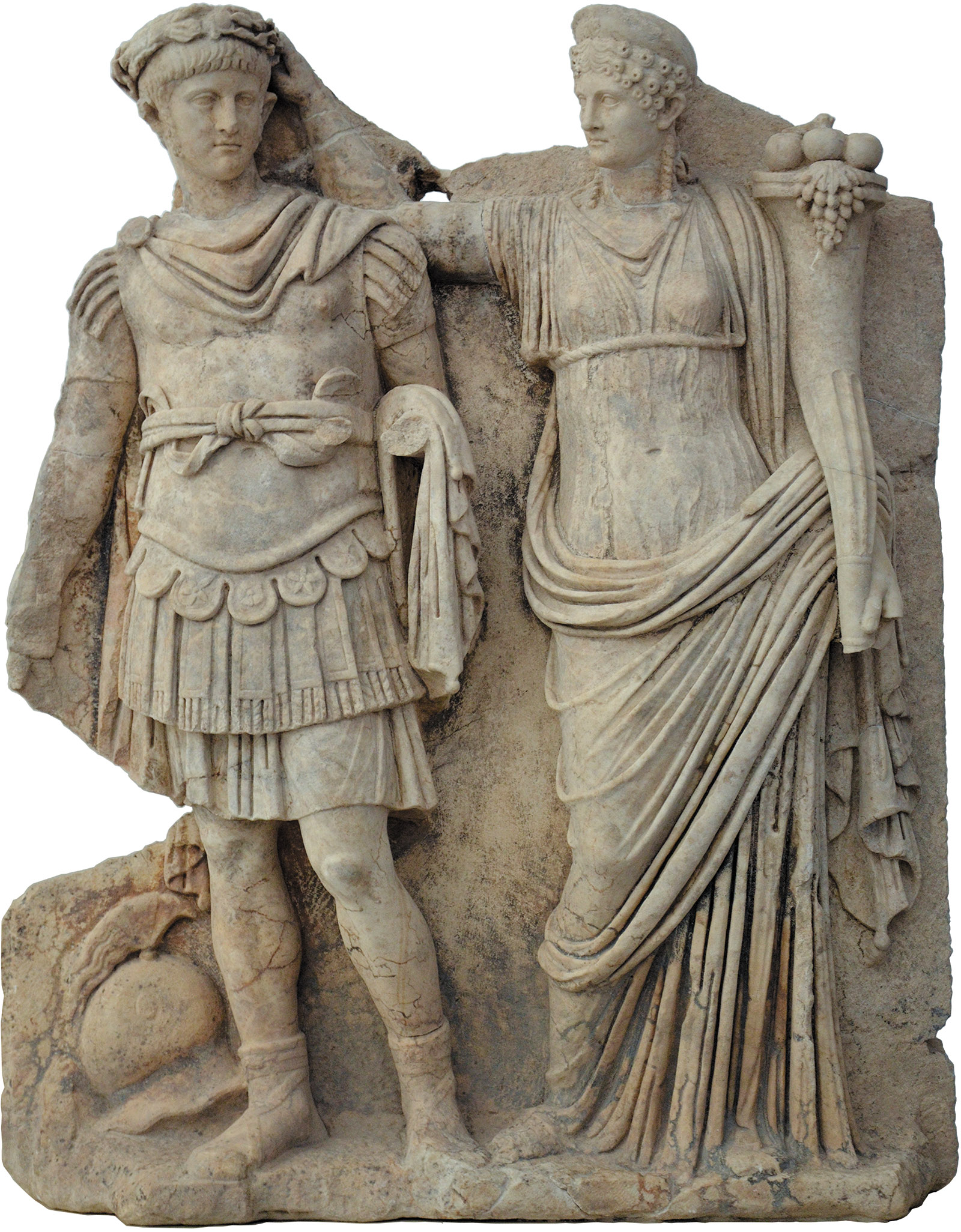 Agrippina crowning her son Nero emperor of Rome, 54 CE; relief from the Sebasteion, an excavated temple in the ancient city of Aphrodisias, in present-day Turkey