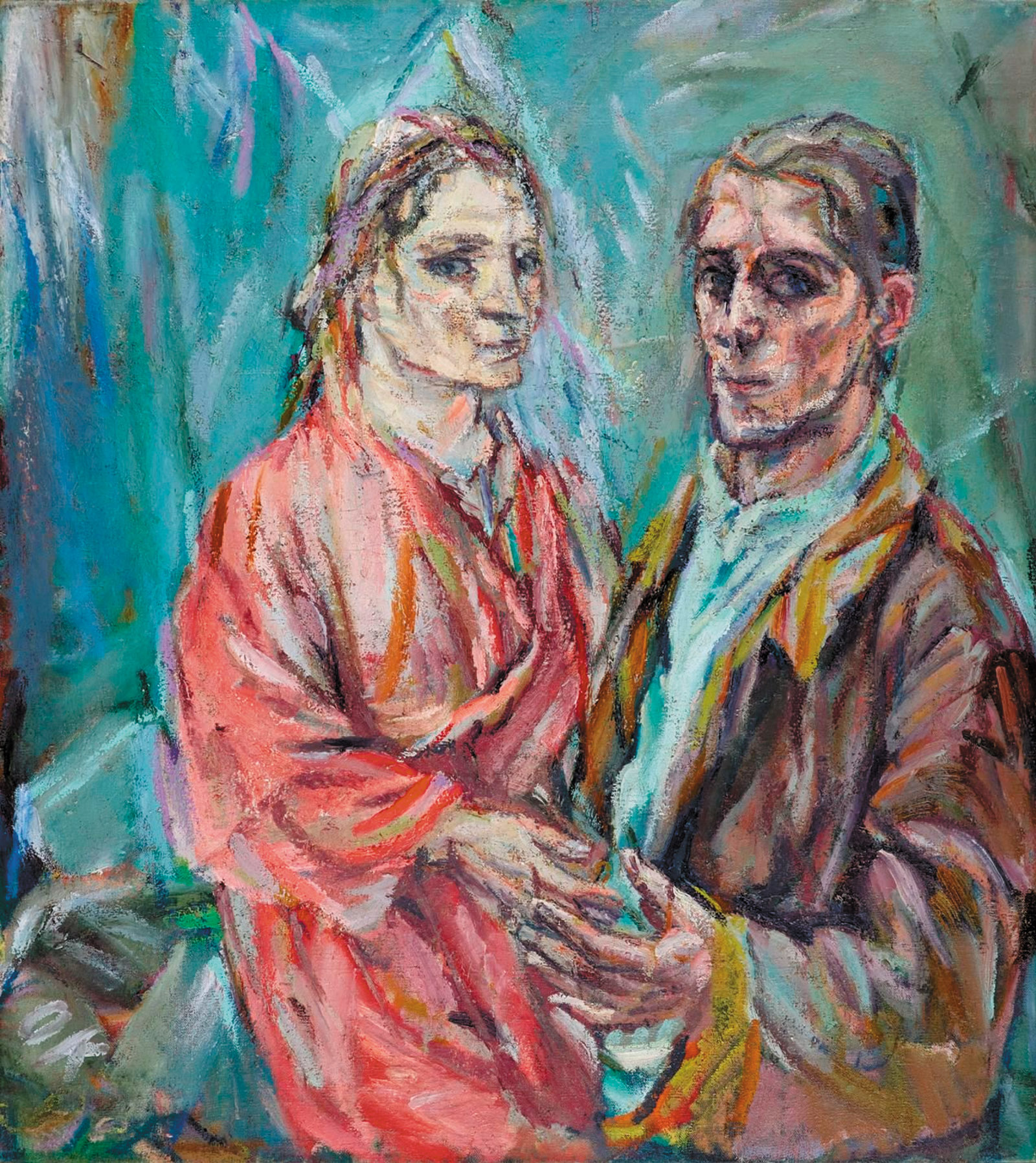 Double Portrait of Oskar Kokoschka and Alma Mahler; a painting by Oskar Kokoschka