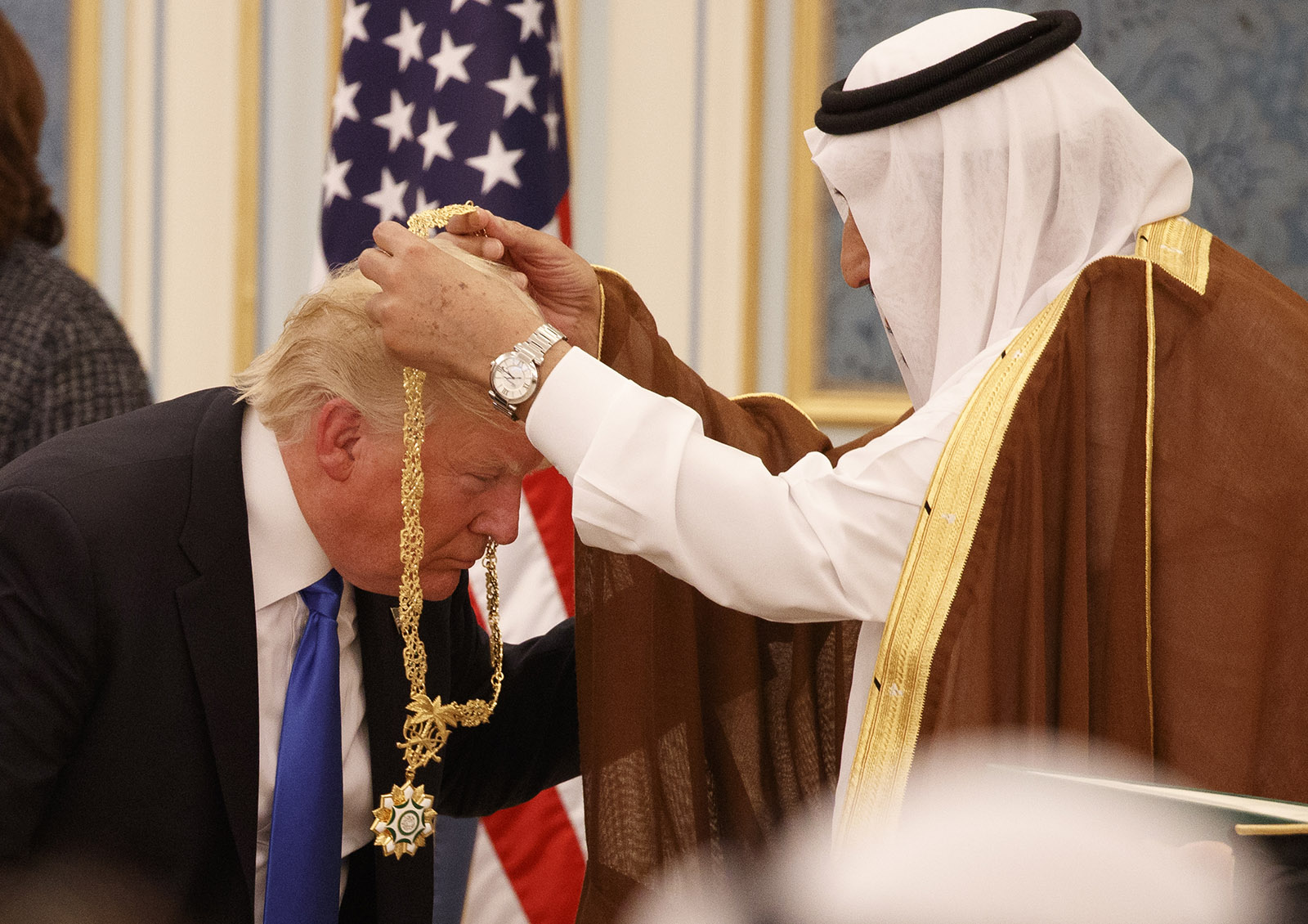 Trump awarded gold medal by Saudi king