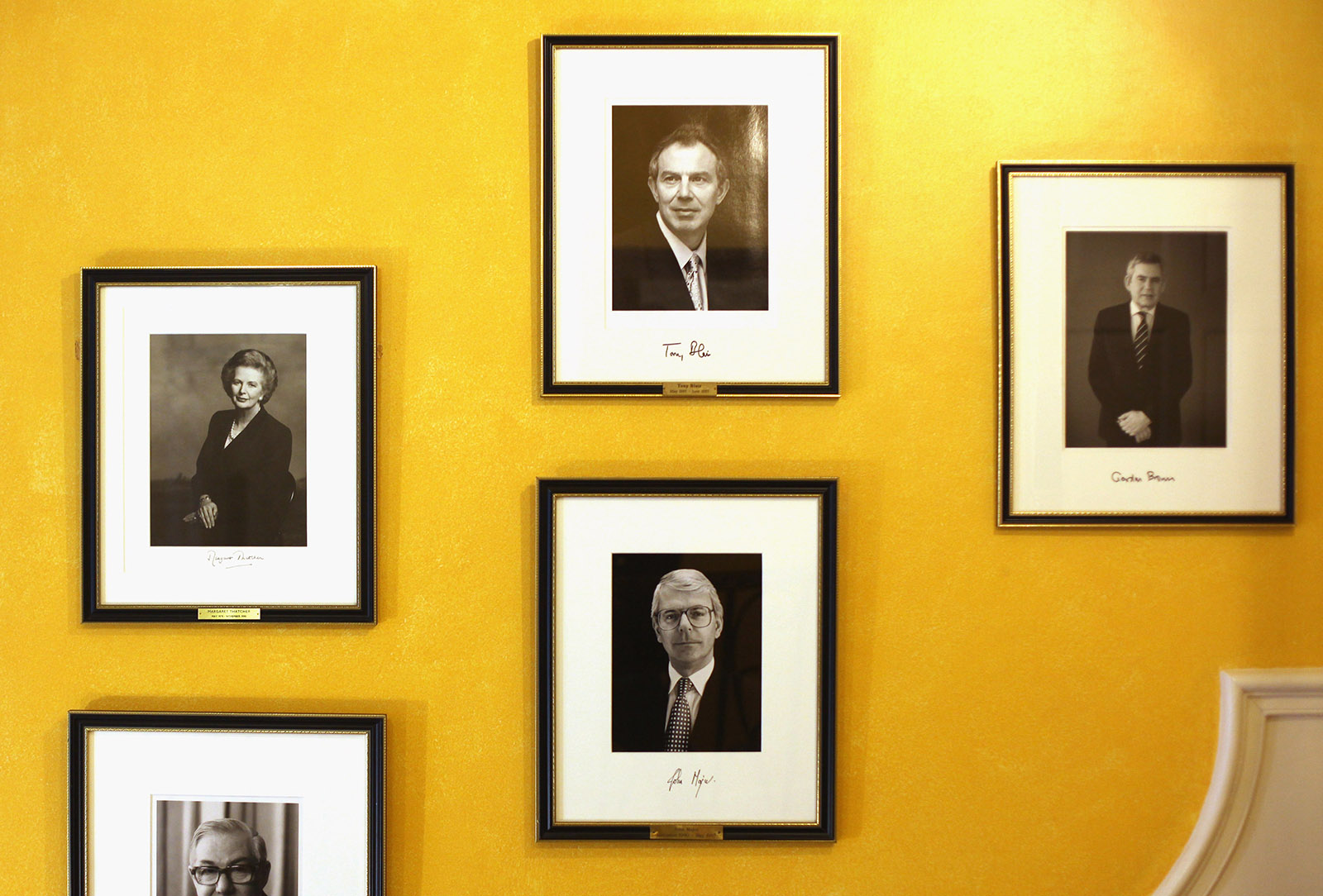Photo portraits of former British prime ministers