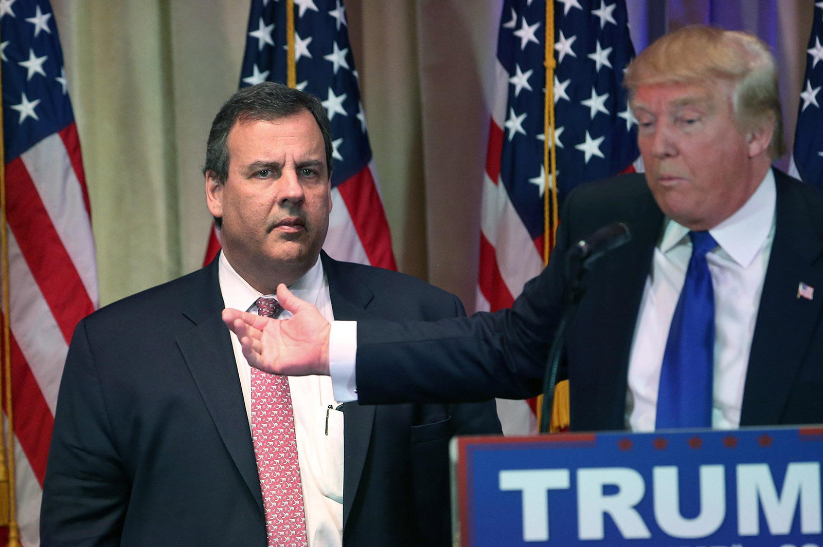 Chris Christie with Donald Trump, 2016