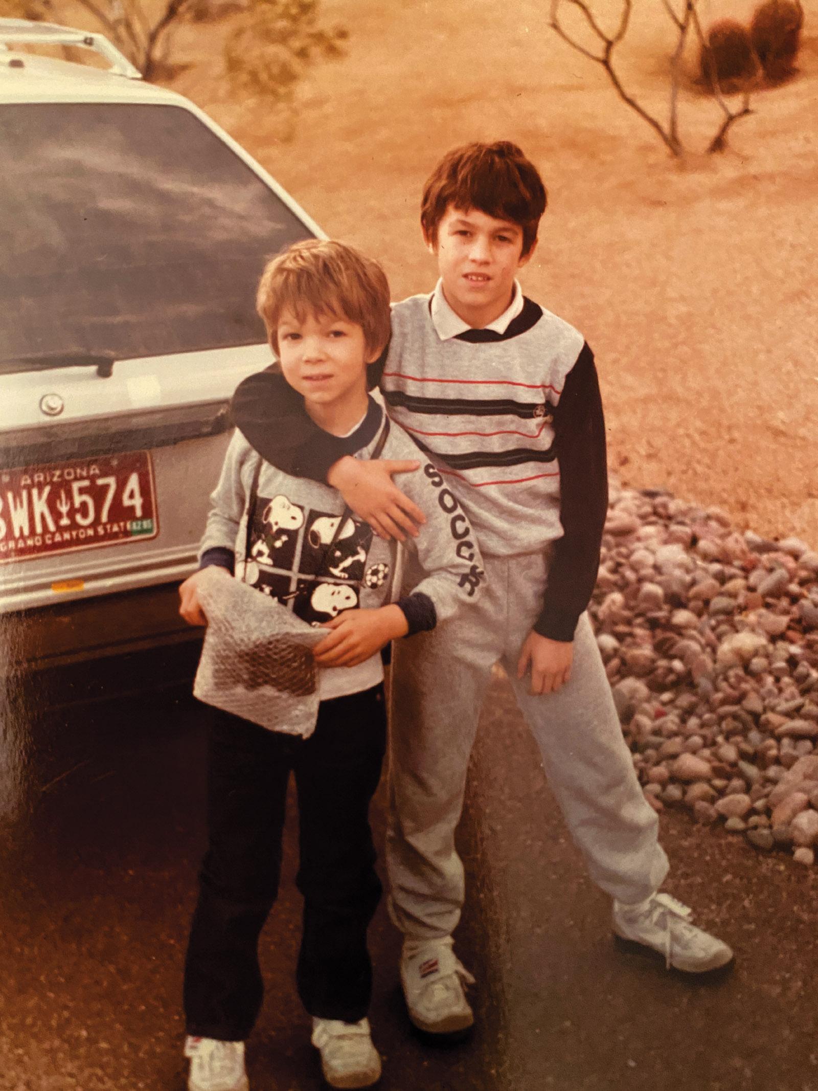 Ben Lerner and his brother, Matt, Phoenix, Arizona, 1985