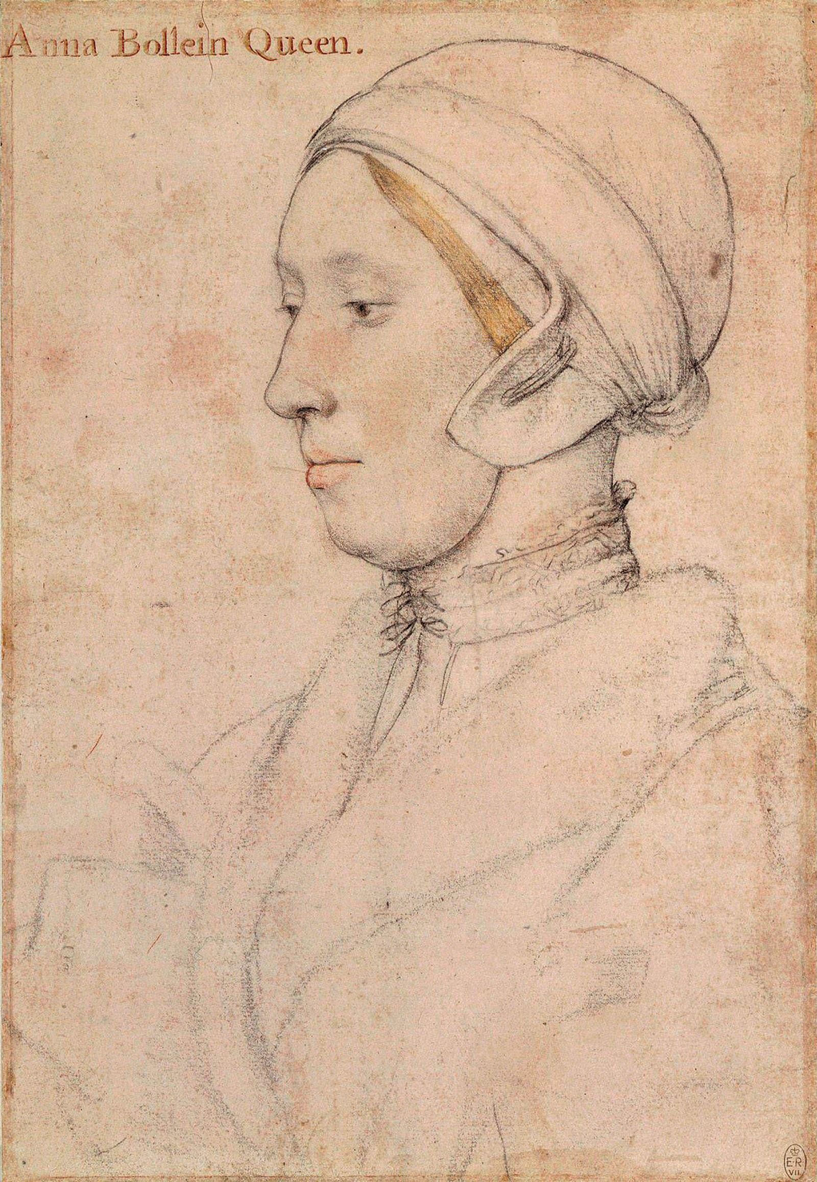 Anne Boleyn; drawing by Hans Holbein the Younger, circa 1533–1536