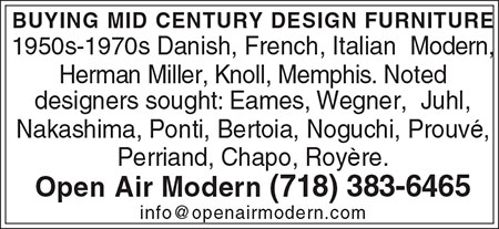 Ad for buying mid century design furniture