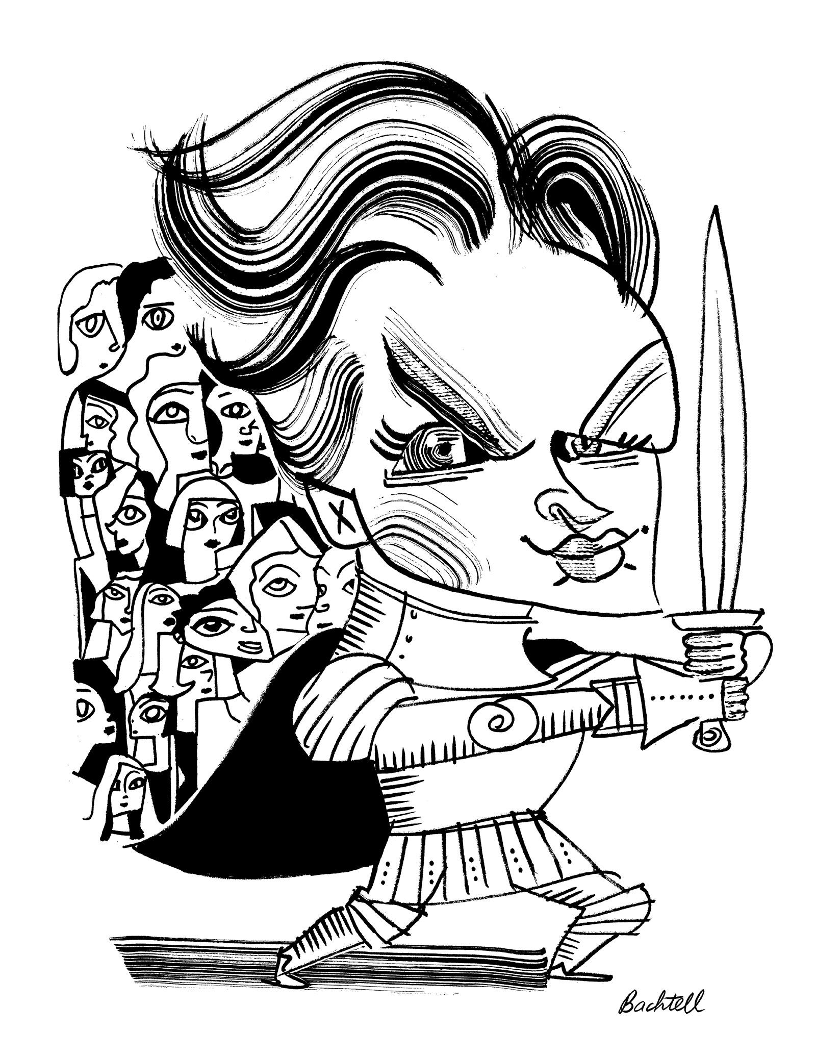 Ronan Farrow; drawing by Tom Bachtell