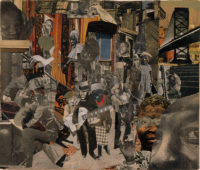 Romare Bearden: The Street, 12 7/8 x 15 3/8 inches, 1964; from Bearden's 'Projections' series