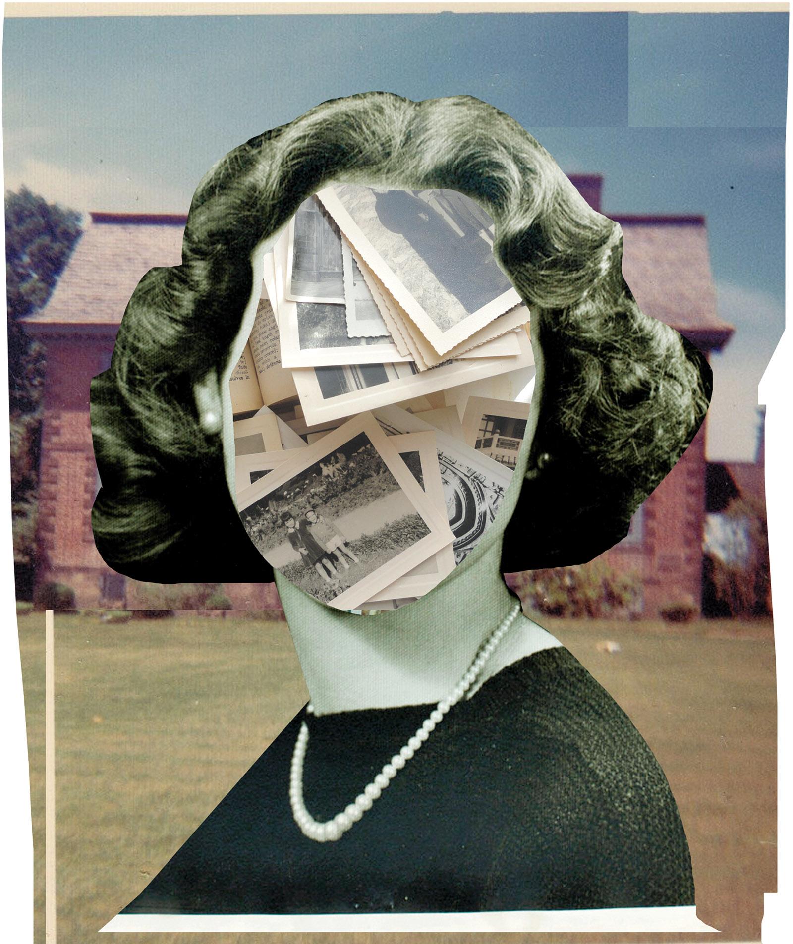 'Fading Memory,' 2014; collage by Johanna Goodman
