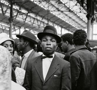 Caribbean migrants arriving at Waterloo Station, London, 1962