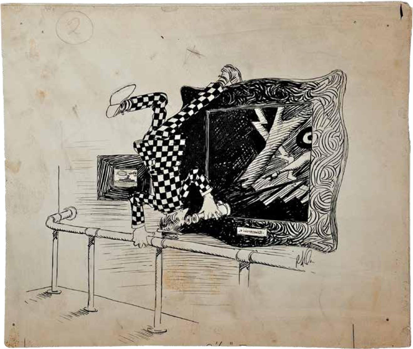 Drawing by Rube Goldberg