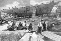 Winslow Homer, Ship-building, Gloucester Harbor, Massachusetts, 1873