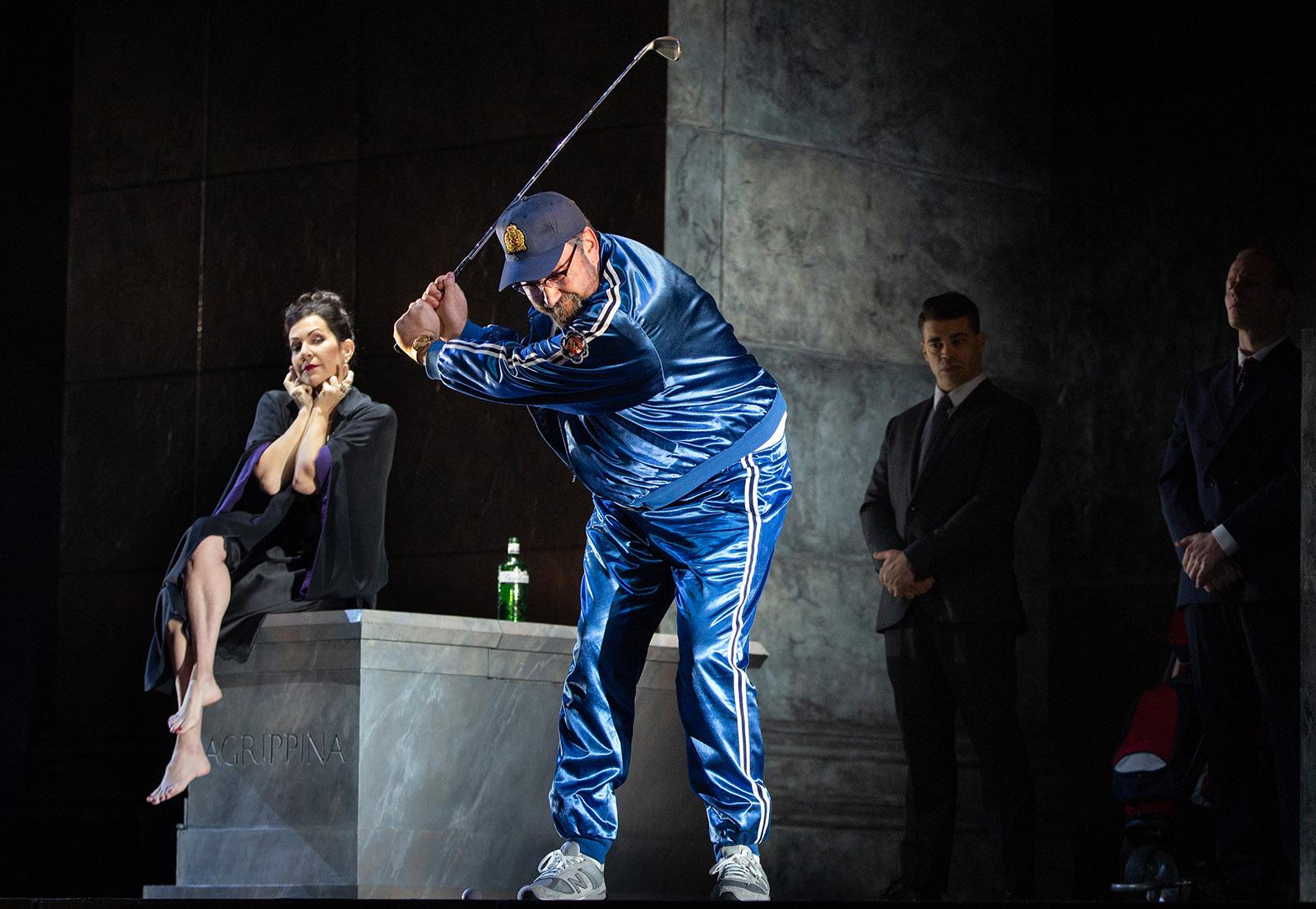 Joyce DiDonato as Agrippina and Matthew Rose as Claudio in Handel's Agrippina at the Metropolitan Opera, New York, 2020