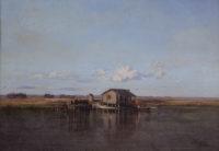 Richard Clague, Trapper's Cabin, Manchac, 1870