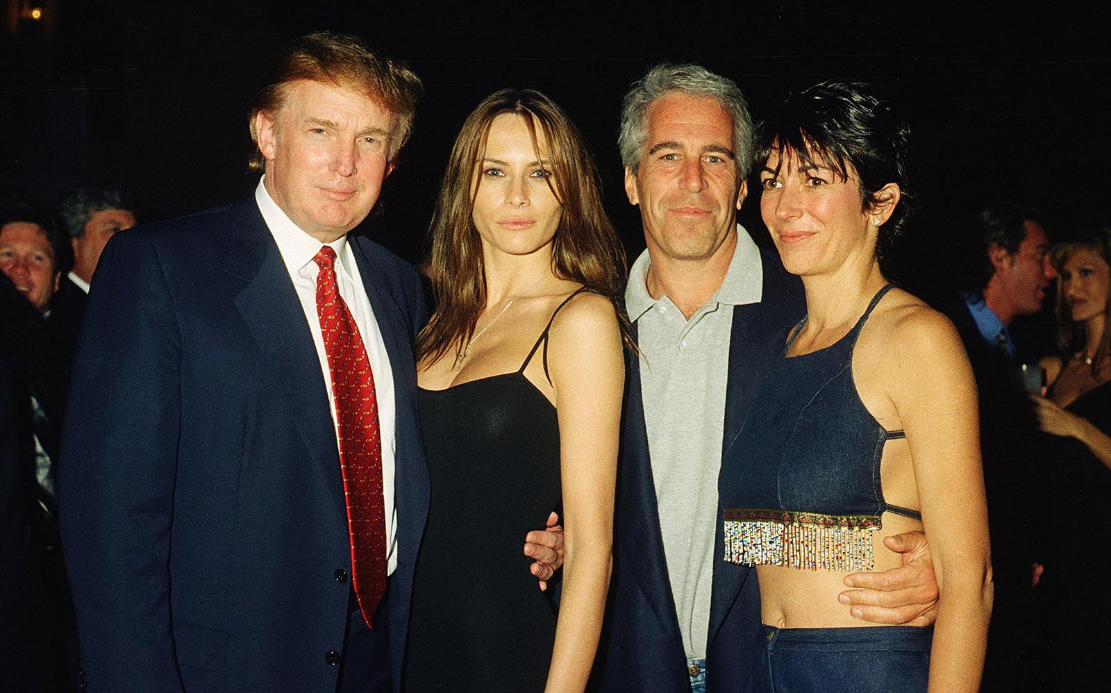 Trump, Knauss, Epstein, and Maxwell at Mar-A-Lago