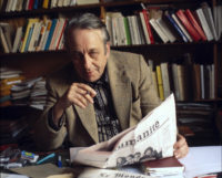 Louis Althusser in his study, Paris, France, April 26, 1978